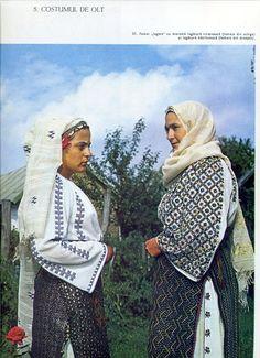 Olt, Oltenia (Wallachia) Folk Costume, Costumes, Folk Embroidery, Romania, Textiles, Bulgaria, Inspiration, Beautiful, Folklore