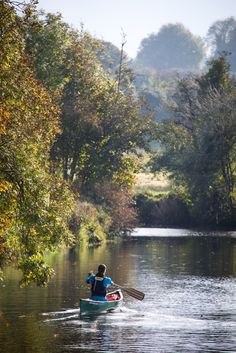 Exploring the Irish landscape on water– canoeing on the River Bonet with Adventure Gently