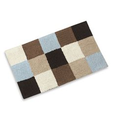Microfiber Bath Mats Latex Slip Bath Rugs For Bathroom Cmxcm - Blue and brown bath rugs for bathroom decorating ideas