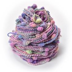 Beehive Coiled Art Yarn in Soft Purple Pastels | Shop Knitting Wool Online