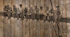 foto en un cuadro hecha con palés