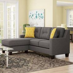Apartment sectional sofas with chaise small corner sectional sofa model best bart furniture apartment size Tiny Living Rooms, Living Room Sets, Living Room Decor, Family Room Furniture, Furniture Ideas, Furniture Design, Chaise Cushions, Diy Home, Home Decor