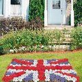 Union Jack flowerbed