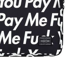 "SUPREME X PORTER – ""FUCK YOU PAY ME"" IPHONE & IPAD CASES 