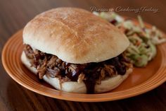 Pork so tender it shreds easily when pulled, served on a bun with a smoky, sweet barbecue sauce. The flavor of slow cooked pulled pork in a fraction of the time by cooking in a pressure cooker.