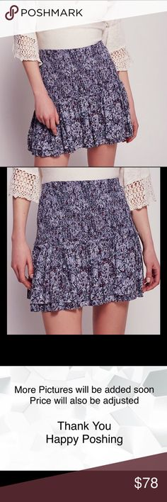 Free People Step Over Printed Mini Free People Step Over Printed Mini  Vintage-inspired mini skirt featuring a flirty ruffled hem. Smocked waistband and easy-to-wear makes for an effortless fit.  100% Rayon Machine Wash Cold Import   No Trades No Holds Free People Skirts Mini