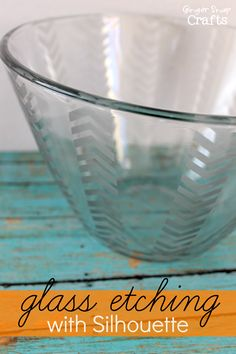 Glass Etching using your Silhouette {tutorial}