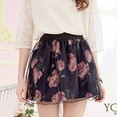 Floral Tulle A-Line Skirt from #YesStyle <3 Tokyo Fashion YesStyle.com