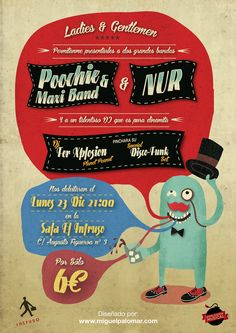 Poochie & Maxi Band + NUR Poster