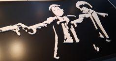 Pulpfiction 3D silhouet is volledig uit hout vervaardigd. www.jackwood.nl