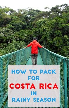 tips for packing for rainy season in costa rica - a helpful guide to help you decide what to bring so you come prepared for the rain