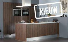 Bruynzeel Robuust keuken in ruw donker eiken greeploos