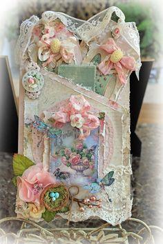 Birdie Darling Pocket Journal *Scraps Of Elegance* *Reneabouquets Etsy* - Scrapbook.com
