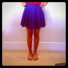 Lace Blue Skirt Never worn! So cute and can be paired with anything. Dress it up or down. Light weight perfect for spring and summer, wear with tights for fall and winter. Grab at this great price Topshop Skirts