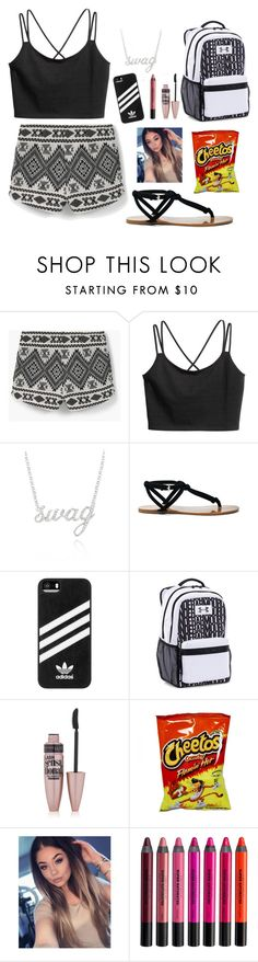 """""""Sporty Swagger"""" by stylelover-650 ❤ liked on Polyvore featuring MANGO, Belk & Co., Sole Society, adidas, Under Armour, Maybelline and Urban Decay"""