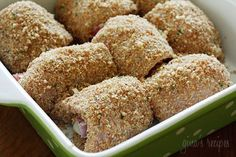 Chicken cutlets dipped in lemon and olive oil, gently coated in a combination of bread crumbs and romano cheese then rolled with prosciutto, cheese and red onion and baked until golden. Serve this with a simple arugula salad or tomato salad for a complete dinner.  I try to make a dish from my friend Julia's blog a few times a month to get show her some love, but also because she's a wonderful cook and I know her recipes won't fail me. I've had my eye on this one for a while, a perfect way…