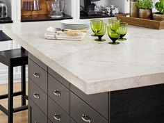 Ikea Kitchen Island w/ Marble Top from #HGTVMagazine December 2012 Issue http://www.hgtv.com/kitchens/expert-kitchen-design/pictures/page-10.html?soc=pinterest