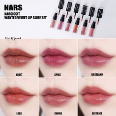 # Nasu # Velvet Lipglide set of 6 ,, Mini size - MakeUp For Women İdeas Makeup Swatches, Makeup Dupes, Lip Makeup, Makeup Cosmetics, Makeup Inspo, Makeup Inspiration, Pretty Makeup, Makeup Looks, Maquillage Normal