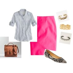 """""""Pink Skirt"""" by admd on Polyvore"""