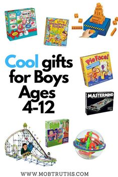 Dec 28, 2018 - The ultimate holiday gift guide for boys, with 40 great holiday gift ideas for boys age 4-12, no matter what their interests are! Christmas Gifts For Boys, Birthday Gifts For Boys, Boy Birthday, Gifts For Kids, Sensory Activities Toddlers, Activities For Boys, Holiday Gift Guide, Holiday Gifts, Nephew Gifts
