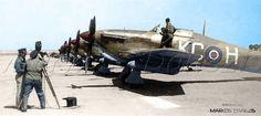 Hawker  Hurricane  Mk.IIc, 336η, Βασιλική Ελληνική Μοίρα  Δίωξης  (Β.Ε.Μ.Δ). Παραλαβή των πρώτων αεροπλάνων της μοίρας. 336th,(Greek) Sq  Royal  Hellenic Air Force  (R.H.A.F.).  by Markos Danezis