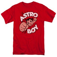 The Astro Boy - Flying Adult T-Shirt is officially licensed, made of 100% pre-shrunk cotton and available in red. Whether you're a Astro Boy Super fan or just looking to geek out at home, you'll love