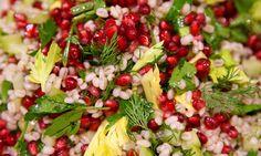 Barley Pomegranate Salad