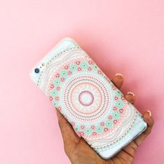 IPhone 5s case Kaleidoscope print design on clear rubber casing. Accessories Phone Cases