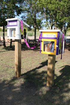 Military Child Education Coalition. Harker Heights, TX. We placed two libraries side-by-side in the local park. One is placed low enough so that the very young readers can select their own books and is stocked with child-appropriate titles. The other is geared for the older reader. Our opening ceremony had over 150 eager and enthusiastic participants, a wonderful program presented by our Librarian, and the reading of a mayoral proclamation declaring it Little Free Library Day!