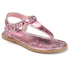 c2b7deb81de4a Hello Kitty Toddler Girls  Glitter T-Strap Sandals Girls Sandals