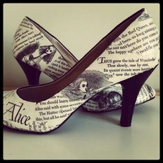 3e4dbac55f9 Alice in Wonderland shoes made my Lish Designs