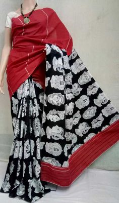 Elegant Fashion Wear Explore the trendy fashion wear by different stores from India Kalamkari Fabric, Kalamkari Dresses, Elegant Fashion Wear, Trendy Fashion, Saree Collection, Cotton Saree, Indian Sarees, Printed Blouse, Indian Wear