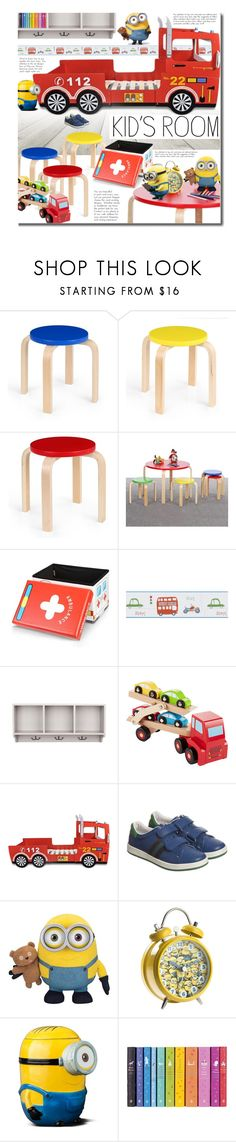 """""""LovDock Kids Room"""" by beebeely-look ❤ liked on Polyvore featuring interior, interiors, interior design, home, home decor, interior decorating, Brewster Home Fashions, Safavieh, Paul Smith and homedecor"""