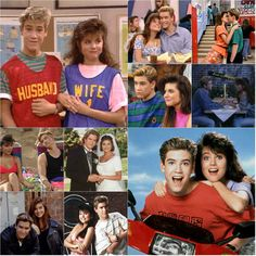 "Zack and Kelly in ""Saved by the Bell"""