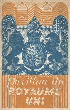 Front cover by Eric Ravilious for the catalogue for the British Pavilion at the Paris International Exhibition in 1937