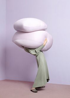 oversized objects that are soft. soft in color and feel. we want tactile envy- make the viewer want to reach in a touch the softness.