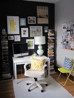 "absolutely love this....would love to have my office look this nice! Love love the book ""stacks"""