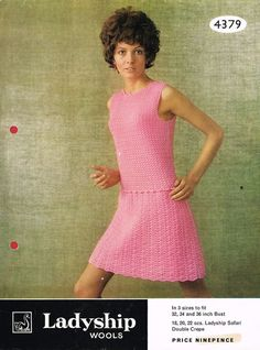Ladyship 4379  ladies dress  crochet summer wear  for ladies