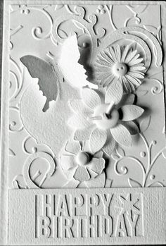 White on White Birthday card