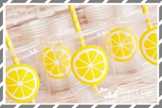 Lemonade Birthday Party Cups-Party by PartyCupMedley on Etsy