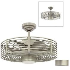 Kendal Lighting 23-in Enclave Satin Nickel Ceiling Fan with Light Kit and Remote