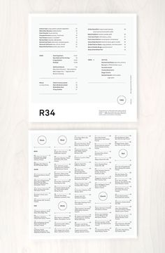 menu design for Row 34 / black and white, type-driven design, typography Food Menu Design, Restaurant Menu Design, Graphic Design Print, Graphic Design Studios, Editorial Layout, Editorial Design, Book Design, Layout Design, Web Design