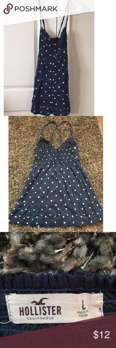 Hollister Polka dot sundress Great condition. Lightweight, comfy material. Hollister Dresses