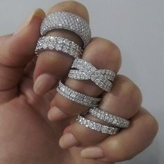 Diamond Silver Ring Jewellery Accessories