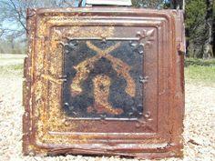 Antique Ceiling Tin Wall Tile Western Cowboy Art Kitchen Backsplash 0P