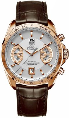 Gold Chain For Men Tag Heuer Grand Carrera Chronograph Calibre 17 RS Men's Watch Model: Rolex Watches For Men, Best Watches For Men, Luxury Watches For Men, Sport Watches, Men's Watches, Tag Huer Watches Men, Wrist Watches, Watch For Men, Swiss Luxury Watches