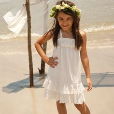 Real Weddings - In Bliss Weddings. Bella, the flower girl, strikes a pose after the ceremony.