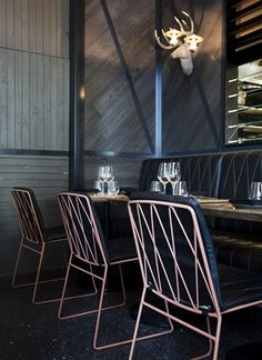Brass wall lights and brass pendant lights by Mance Interior Space: Bar Nacional, Docklands, Melbourne by: Emily Pedersen of Walker Corp and Anna Drummond and Trish Turner of CoLAB Design Studio Photography: Peter Tarasiuk