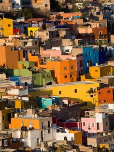Steep Hill with Colorful Houses, Guanajuato, Mexico Photographic Print at AllPosters.com