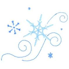 Embroidered snowflake #2